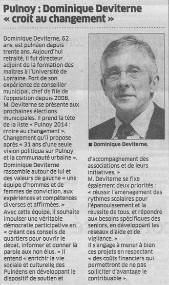 Dominique Deviterne à Pulnoy
