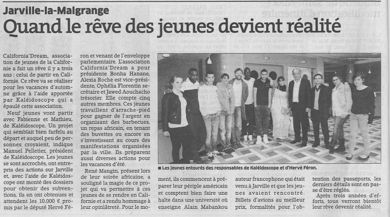Hervé FERON au repas africain de la junior association California Dream