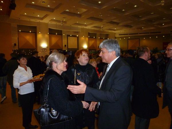 Hervé FERON avec la députée suppléante, Evelyne GAREAUX aux voeux de Vandoeuvre